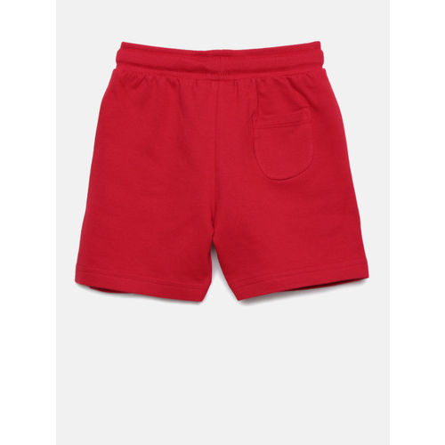 Juniors by Lifestyle Boys Red Solid Regular Fit Shorts