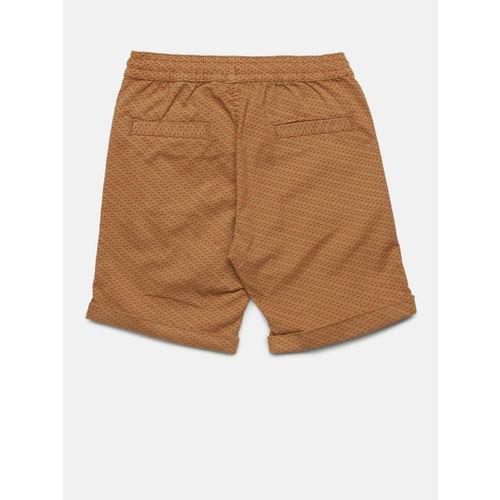 Juniors by Lifestyle Boys Khaki Printed Regular Shorts