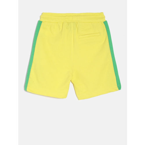 Juniors by Lifestyle Boys Yellow Printed Regular Fit Shorts
