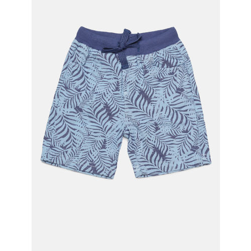 Juniors by Lifestyle Boys Blue Printed Regular Fit Regular Shorts