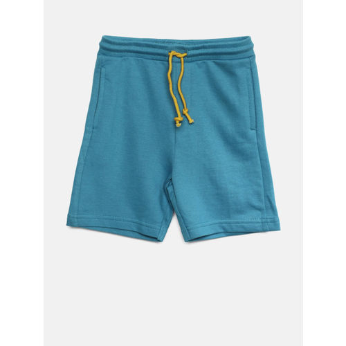 Juniors by Lifestyle Boys Blue Solid Regular Fit Shorts
