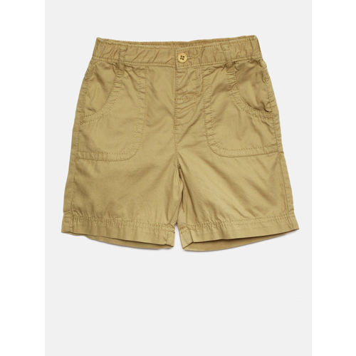 Juniors by Lifestyle Boys Khaki Solid Regular Fit Shorts