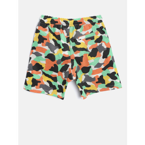 Juniors by Lifestyle Boys Multicoloured Camouflage Print Casual Shorts