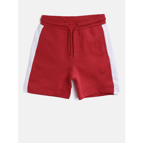 Juniors by Lifestyle Boys Red Solid Shorts