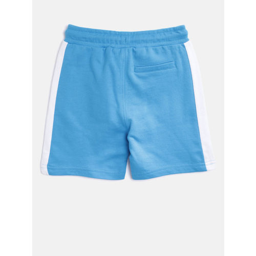 Juniors by Lifestyle Boys Blue Solid Shorts