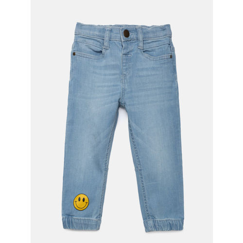 Juniors by Lifestyle Boys Blue Mid-Rise Clean Look Joggers