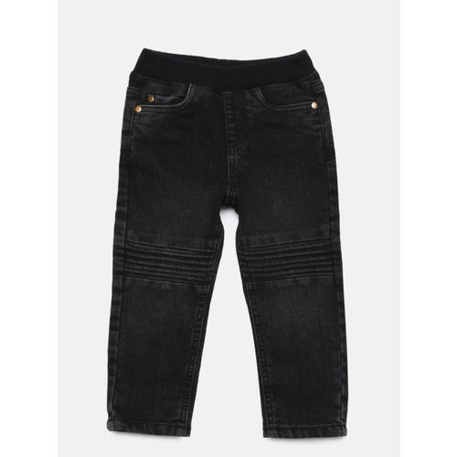 Juniors by Lifestyle Boys Black Slim Fit Mid-Rise Clean Look Jeans