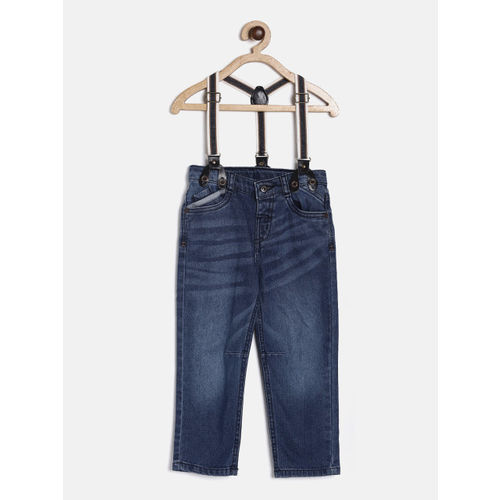 Juniors by Lifestyle Boys Blue Slim Fit Mid-Rise Clean Look Jeans