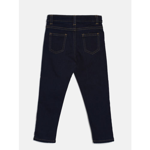 Juniors by Lifestyle Boys Navy Blue Regular Fit Mid-Rise Clean Look Jeans