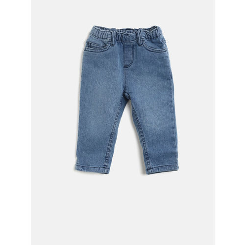 Juniors by Lifestyle Boys Blue Regular Fit Mid-Rise Clean Look Stretchable Jeans