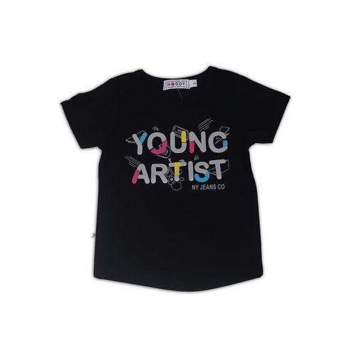 Noddy Boys Black Printed Round Neck T-shirt