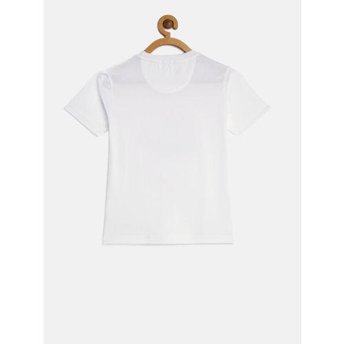 Indian Terrain Boys White Glow-in-the-Dark T-shirt