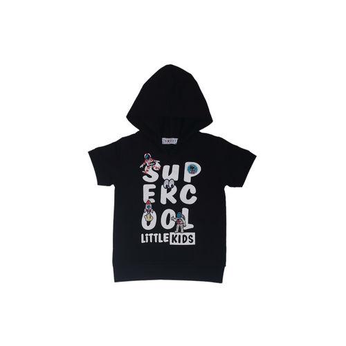 Noddy Boys Black Printed Hooded T-shirt