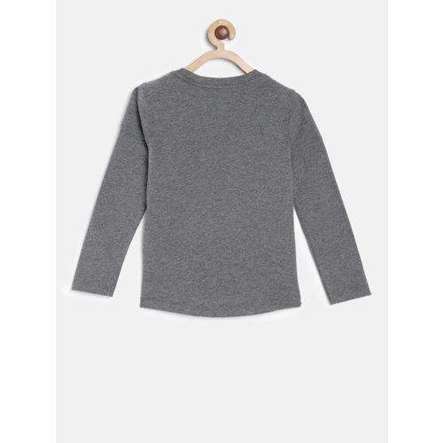 Tommy Hilfiger Boys Grey Printed Round Neck T-shirt
