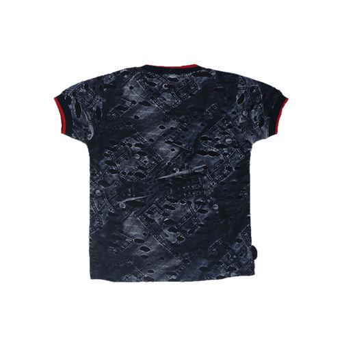 Noddy Boys Navy Blue Printed Round Neck T-shirt