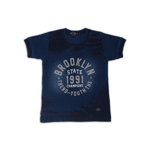 Noddy Boys Blue Printed Round Neck T-shirt