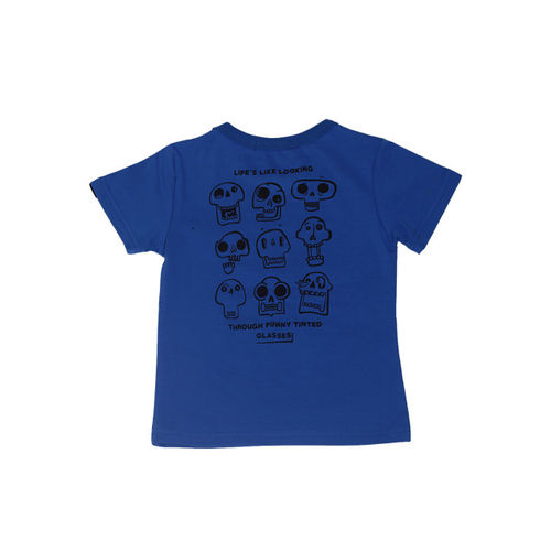 Noddy Boys Blue and White Printed Round Neck T-shirt