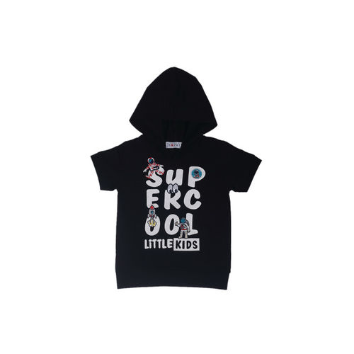 Noddy Boys Black Printed Hooded T-shirt