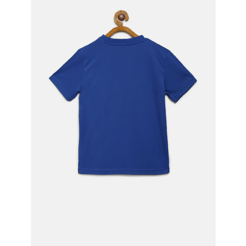 Alcis Boys Blue Printed Round Neck T-shirt