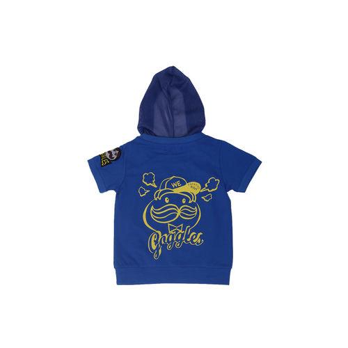 Noddy Boys Blue and Yellow Printed Hood T-shirt