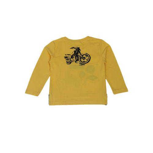 Noddy Boys Yellow Printed Round Neck T-shirt