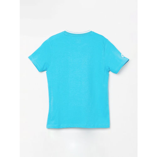 Kappa Boys Blue Printed Round Neck T-shirt
