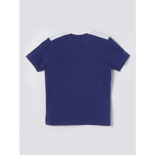 Kappa Boys Navy Blue Printed Round Neck T-shirt