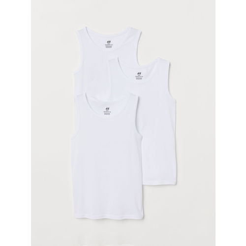 H&M Boys 3-Pack Cotton Vest T-shirts