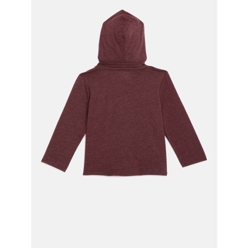 The Childrens Place Boys Red Printed Hooded T-shirt