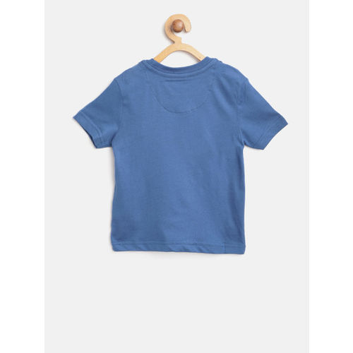 U.S. Polo Assn. Kids Boys Blue Printed Round Neck T-shirt