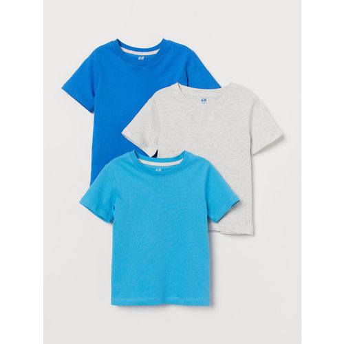 H&M Boys Solid 3-Pack T-shirts