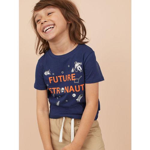H&M Boys Blue Printed T-shirt