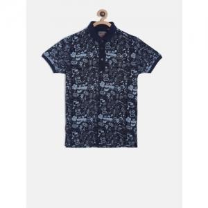Gini and Jony Boys Blue Printed T-shirt
