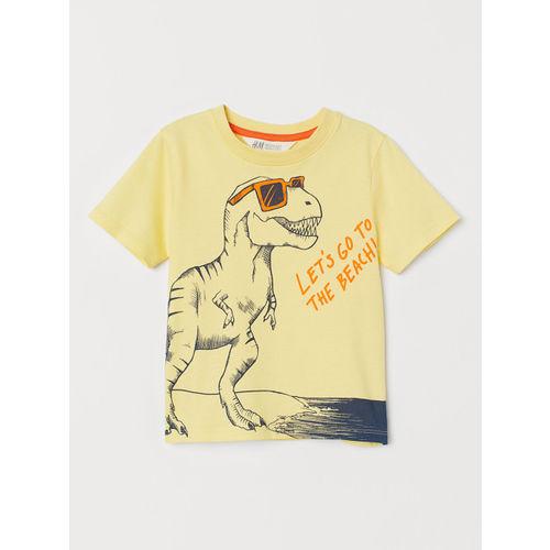 H&M Boys Yellow Printed T-shirt