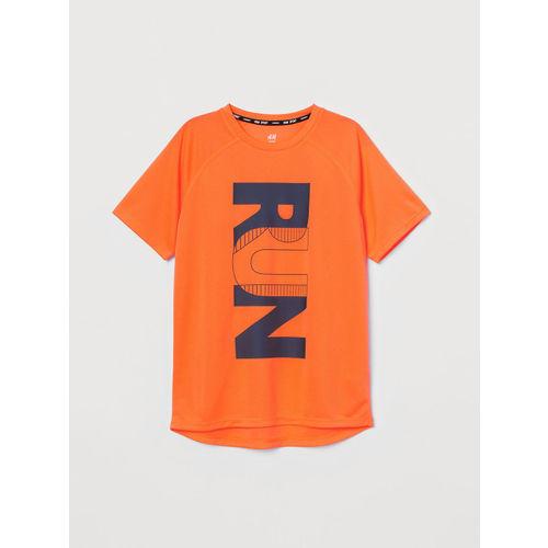 H&M Boys Orange Printed Sports T-shirts