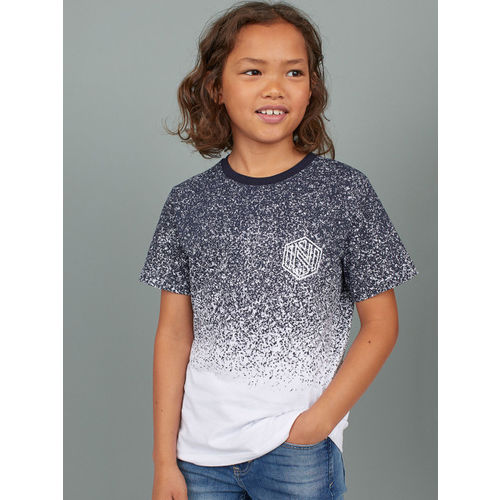 H&M Boys Blue Printed T-shirt
