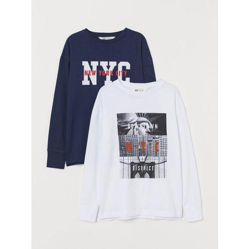 H&M Boys 2-Pack Jersey T-shirts