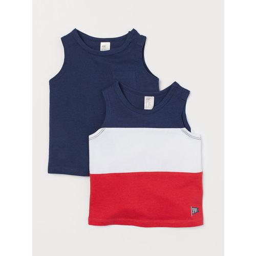 H&M Boys 2-Pack Cotton Vest T-shirts
