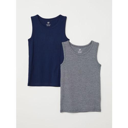 H&M Boys Solid 2-pack Vest T-Shirts