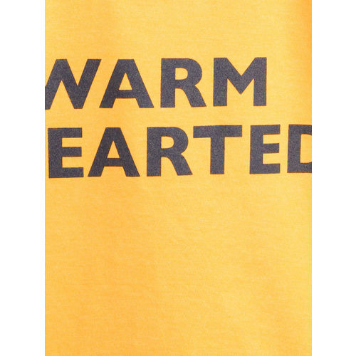 United Colors of Benetton Boys Yellow Printed Round Neck T-shirt
