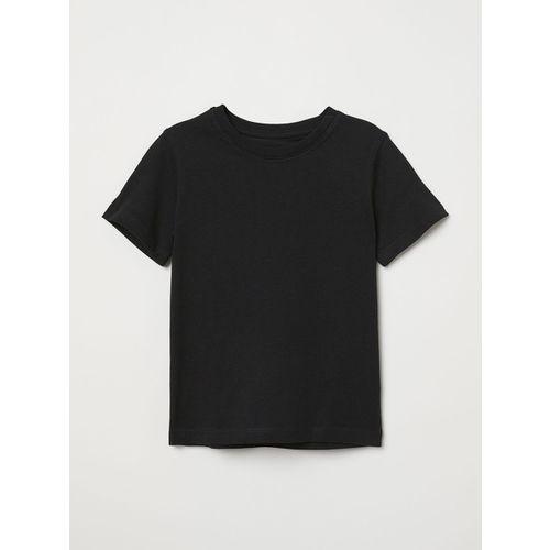 H&M Boys Black Cotton T-shirt