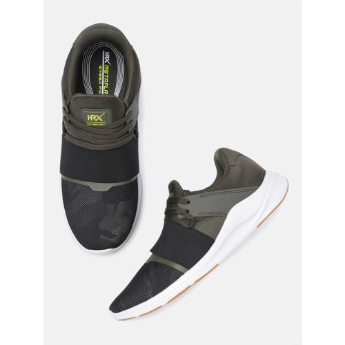 HRX by Hrithik Roshan Men Olive Green & Black Meta Flash Running Shoes