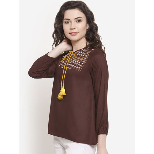 Martini Women Brown Printed Top
