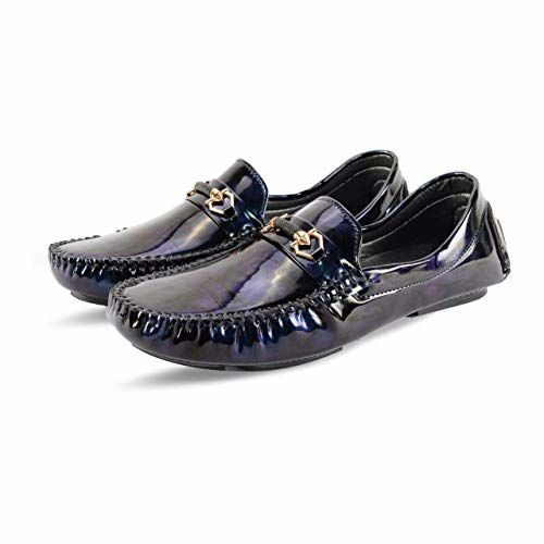 Stada Men's Shiny Casual Loafer Shoes