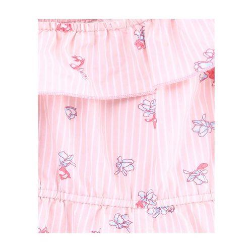 Beebay Kids Pink Printed Jumpsuit