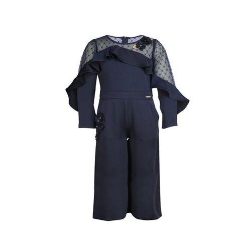 Cutecumber Kids Navy Embellished Jumpsuit