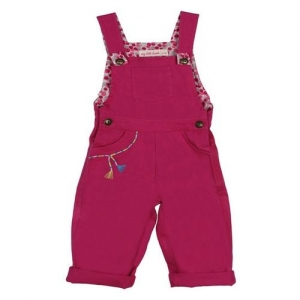 My Little Lambs Kids Pink Solid Dungaree
