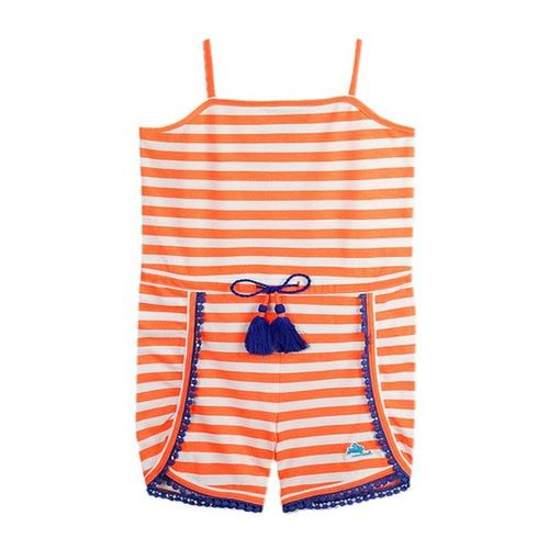 Cherry Crumble California Kids Orange & White Playsuit