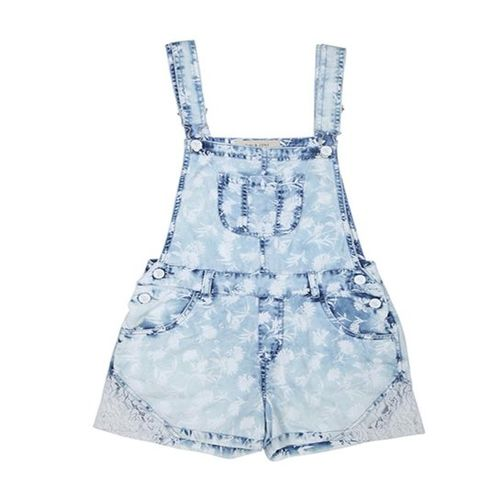 Gini & Jony Kids Blue Printed Playsuit