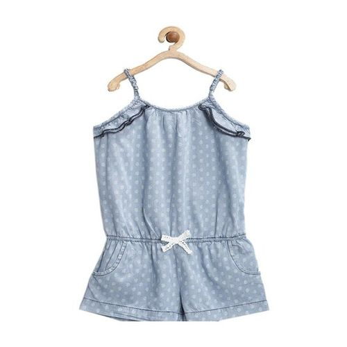 United Colors of Benetton Kids Blue Printed Playsuit